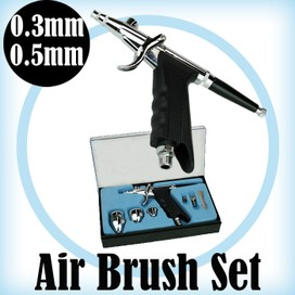 Airbrush Set 0.3mm 0.5mm Handpiece Professional High performance paint tool