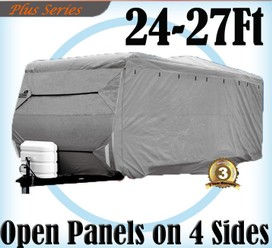 Heavy Duty 24-27 ft 4 Layer Caravan Campervan Cover UV Waterproof Carry bag