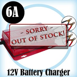 12V Battery Charger- 6A Fully Automatic Waterproof