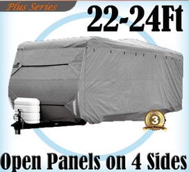 Heavy Duty 22-24 ft 4 Layer Caravan Campervan Cover UV Waterproof Carry bag