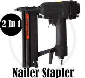 2in1 AIR NAIL  STAPLE GUN COMBO NAILER BRAD GUN STAPLER 10-50mm