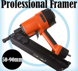 34 Degree Air Nailer Framing Gun - Clippe Head Professional Model 50-90mm