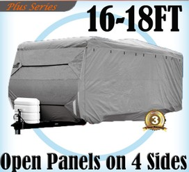 Heavy Duty 16-18 ft 4 Layer Caravan Campervan Cover UV Waterproof Carry bag