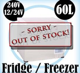 60L Portable Freezer Fridge 12V24V240V Camping Car Boating Caravan Cooler