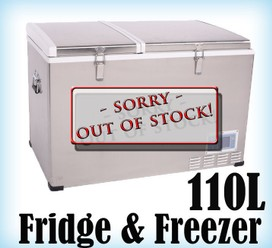 110L Portable Freezer Fridge 12V24V240V Camping Car Boating Caravan Cooler