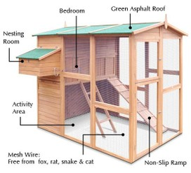 Deluxe Large Chicken Coop Guinea Pig Rabbit Ferret Wooden House Pet Hutch Cage