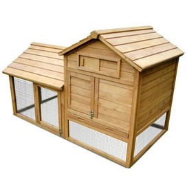 Rabbit Guinea Pig Ferret Chicken Coop Hen House Poultry Hutch Cage Bunny