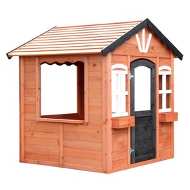 KIDS Cubby House Wooden Outdoor Playhouse Cottage Children Play Timber