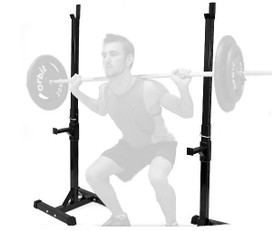 EW SQUAT CURL RACK BENCH PRESS BARBELL WEIGHTS STAND HOME GYM EQUIPMENT