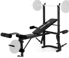 HOME GYM BENCH PRESS MULTISTATION TRAINING EXERCISE FITNESS WEIGHT EQUIPMENT